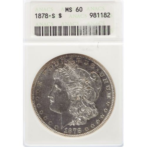 1878-S Morgan Dollar MS-60 (ANACS)