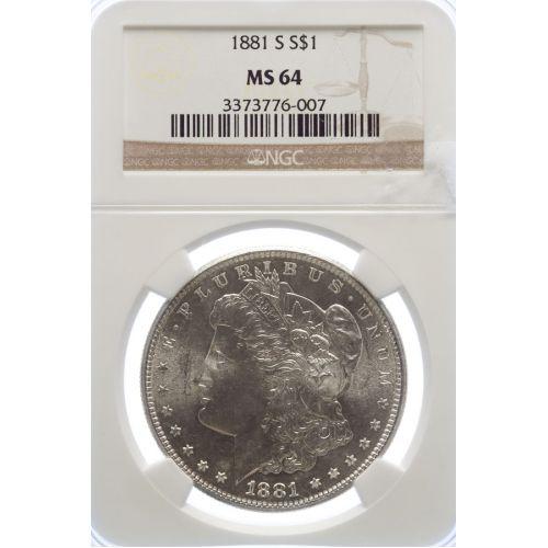1881-S Morgan Dollar MS-64 (NGC)