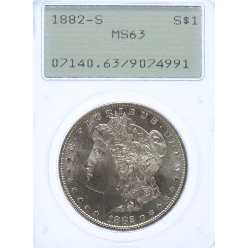 1882-S Morgan Dollar MS-63 (PCGS)