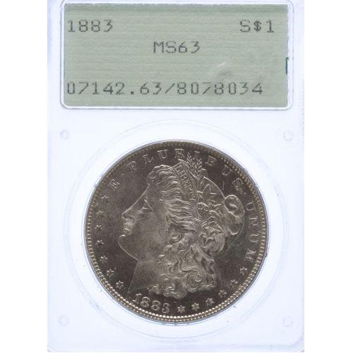 1883 Morgan Dollar MS-63 (PCGS)