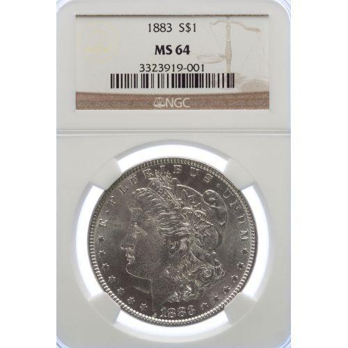 1883 Morgan Dollar MS-64 (NGC)