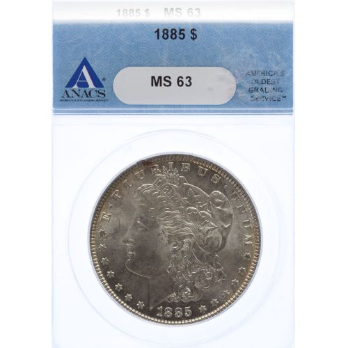 1885 Morgan Dollar MS-63 (ANACS)