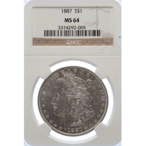 1887 Morgan Dollar MS-64 (NGC)