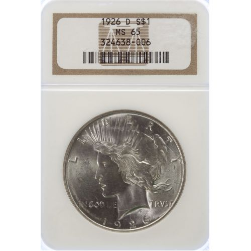 1926-D Peace Dollar MS-65 (NGC)