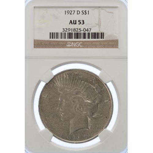 1927-D Peace Dollar AU-53 (NGC)