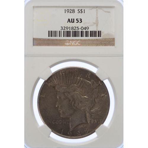 1928 Peace Dollar AU-53 (NGC)