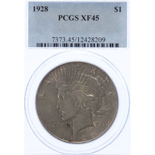 1928 Peace Dollar XF-45 (PCGS)