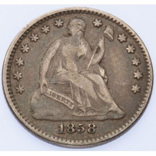 1858 Seated Half Dime