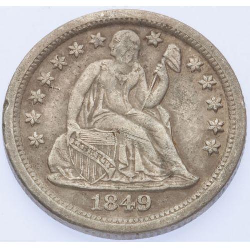 1849-O Seated Dime