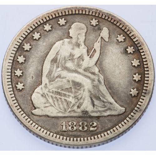 1882 Seated Quarter