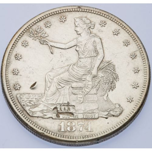 1874-S Trade Dollar