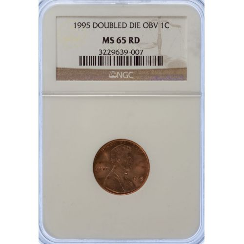 1995 Doubled Die Obv Lincoln Cent MS-65 RD (NGC)