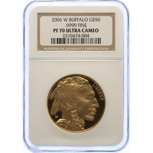 2006-W Buffalo $50 Gold PF-70 UCAM (NGC)