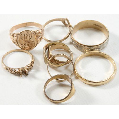 10k Gold Bands & Ring Settings (6pcs.)