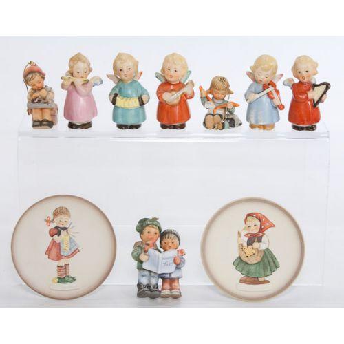 Hummel / Goebel Figurines, Ornaments & Plaques (10pcs)