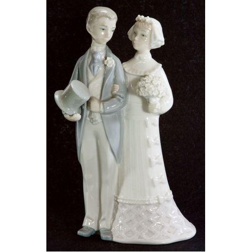 "Lladro Glazed Retired # 4480 ""Wedding"" Bride Groom"