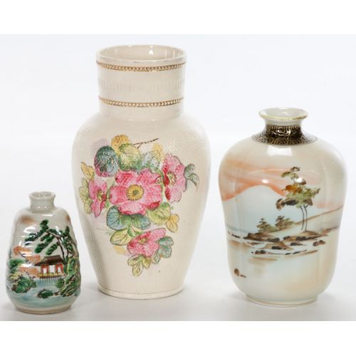 Vases with Scenic & Floral Designs (3pcs)