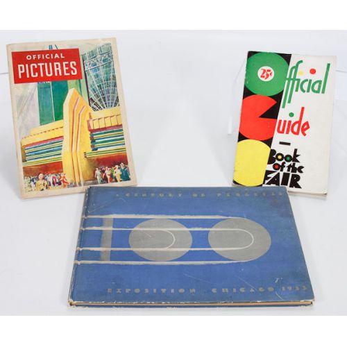 1933 Chicago Century of Progress Guide Books (3pcs)