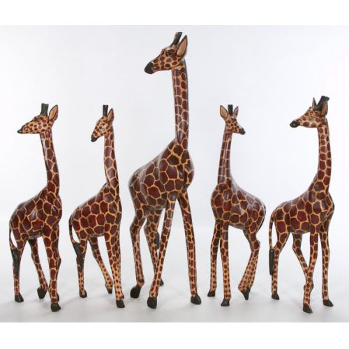 Collection of Carved Giraffes from Kenya (5pcs)