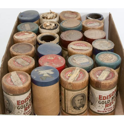 Cylinder Records in Boxes (over 20pcs)