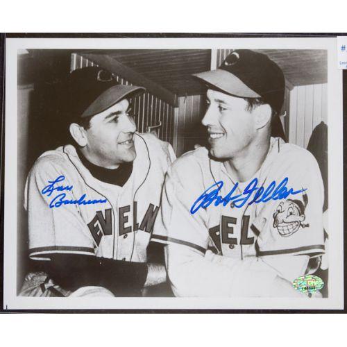 Bob Feller & Lou Boudreau (Cleveland Indians) Signed Photograph