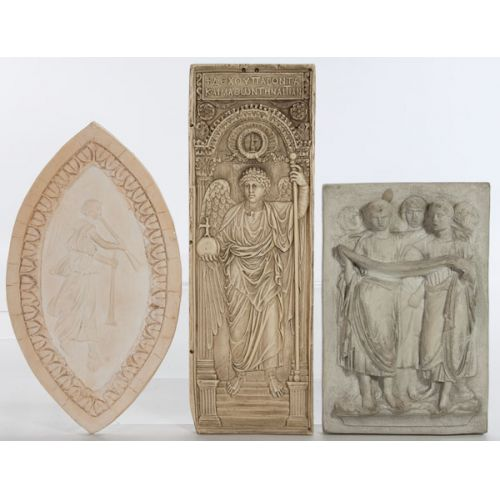 Wall Reliefs with Angels & Maidens (3pcs)