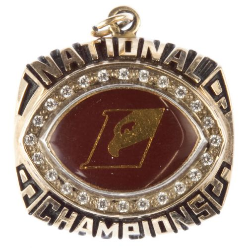 10k Gold National Champions Pendant