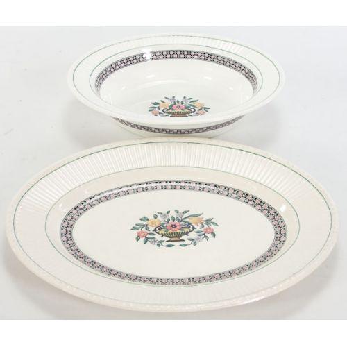 Wedgwood Trentham Pattern Platter & Oval Bowl