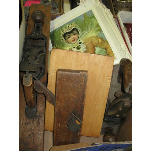 Wood Planes & Framed Pictures