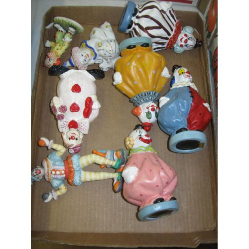 Ceramic Clown Figurines