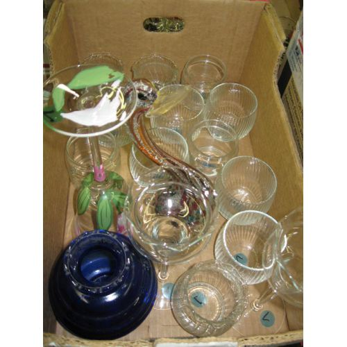 Glass Candle Holders & Art Glass