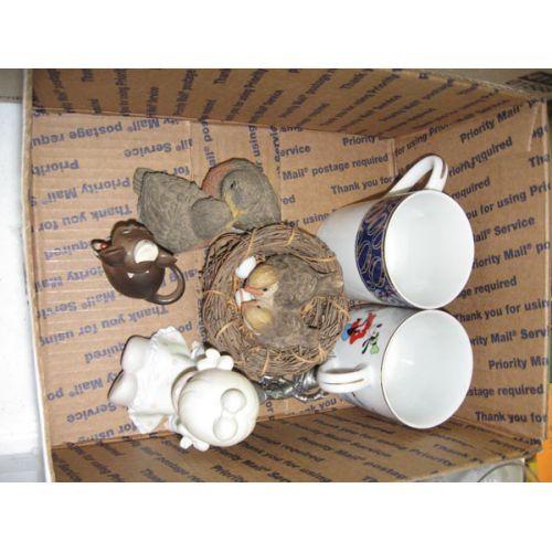 Cups & Ceramic Birds