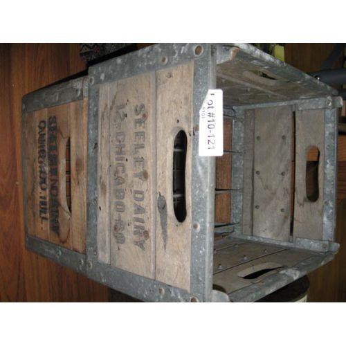 Pair Wood Milk Crates
