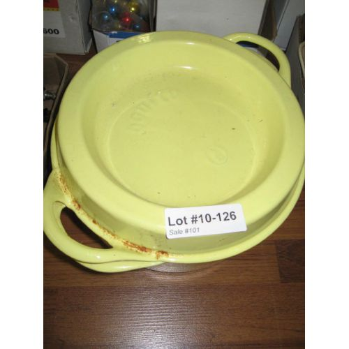 Yellow Metal Covered Cook Pot