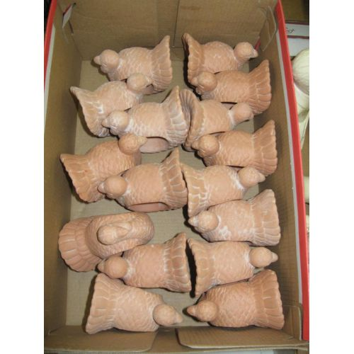 Ceramic Turkey Napkin Rings
