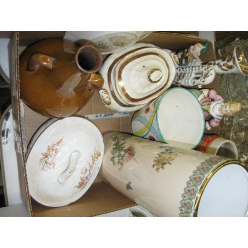 Ceramic Items with Tall vase