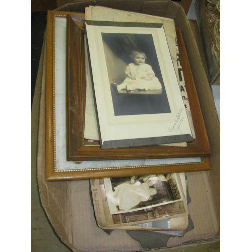 Framed Photo and Ephemera