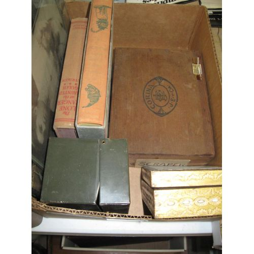 Books and Wood Boxes