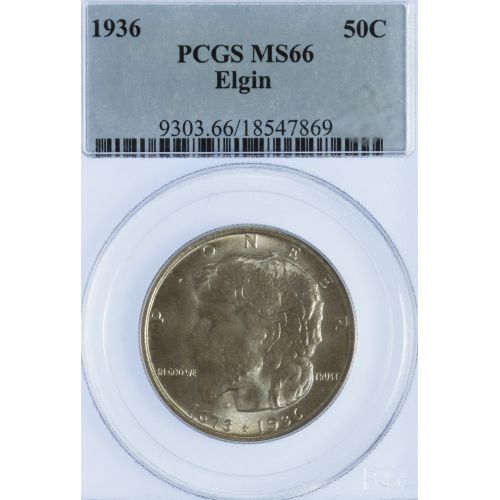 1936 50c Elgin MS-66 PCGS