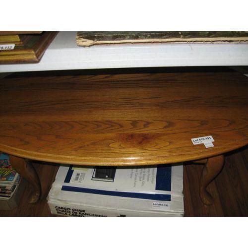Light Oak Oval Coffee Table