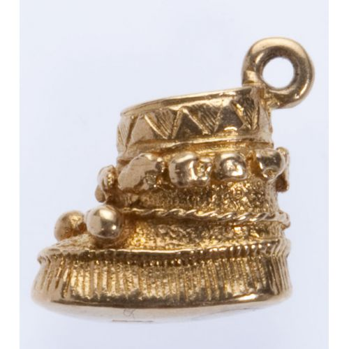 Boot 10k Gold Charm