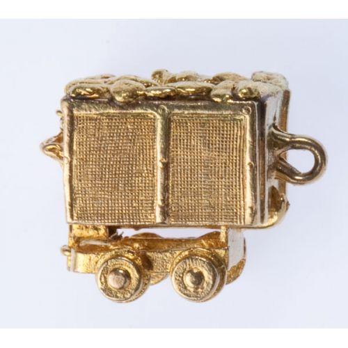 Gold Mine Cart 10k Gold Charm