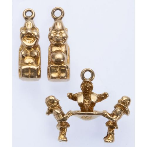 Children Playing, Idols 10k Gold Charms (3pcs)