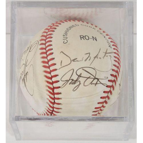 1986 Cubs Autographed Baseball