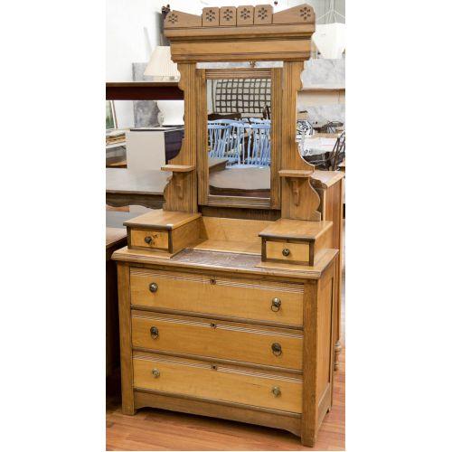 Eastlake Glove Box Dresser with Mirror
