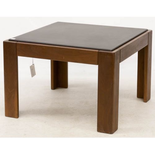 Square Coffee Table with Upholstered Center