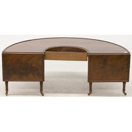 Semi-circle Drop Leaf Coffee Table with Planter Insert
