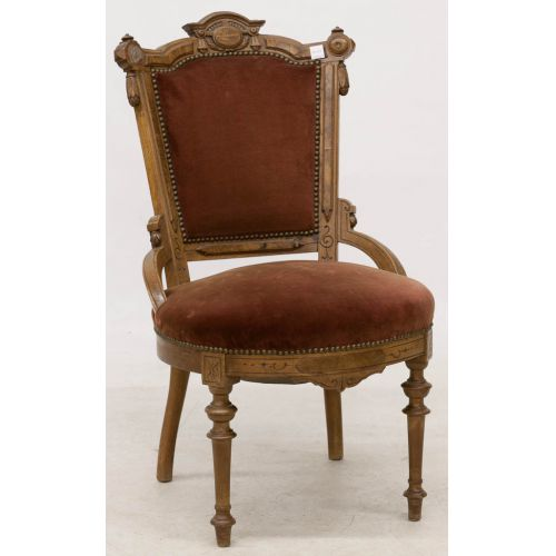 Victorian Walnut Upholstered Chair