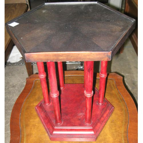 Brandt Six-sided Faux Bamboo Painted Table
