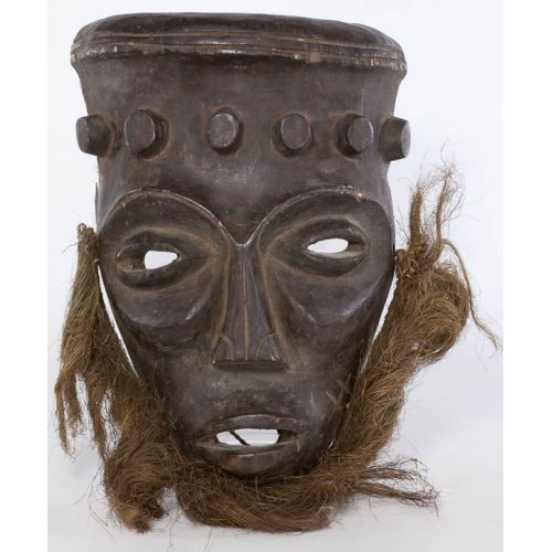 South African Carved Dancing Mask with Beard